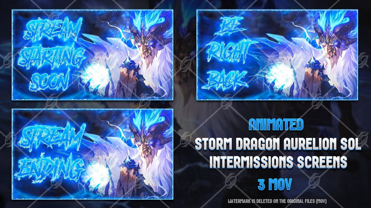 🐉🎞️ STORM DRAGON AURELION SOL - ANIMATED INTERMISSIONS SCREENS