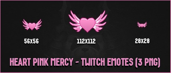 ✅HEART PINK MERCY - TWITCH EMOTES
