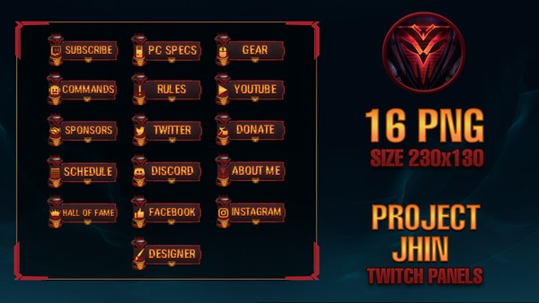 ✅PROJECT JHIN - TWITCH PANELS