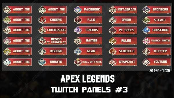 ✅ APEX LEGENDS - TWITCH PANELS #3