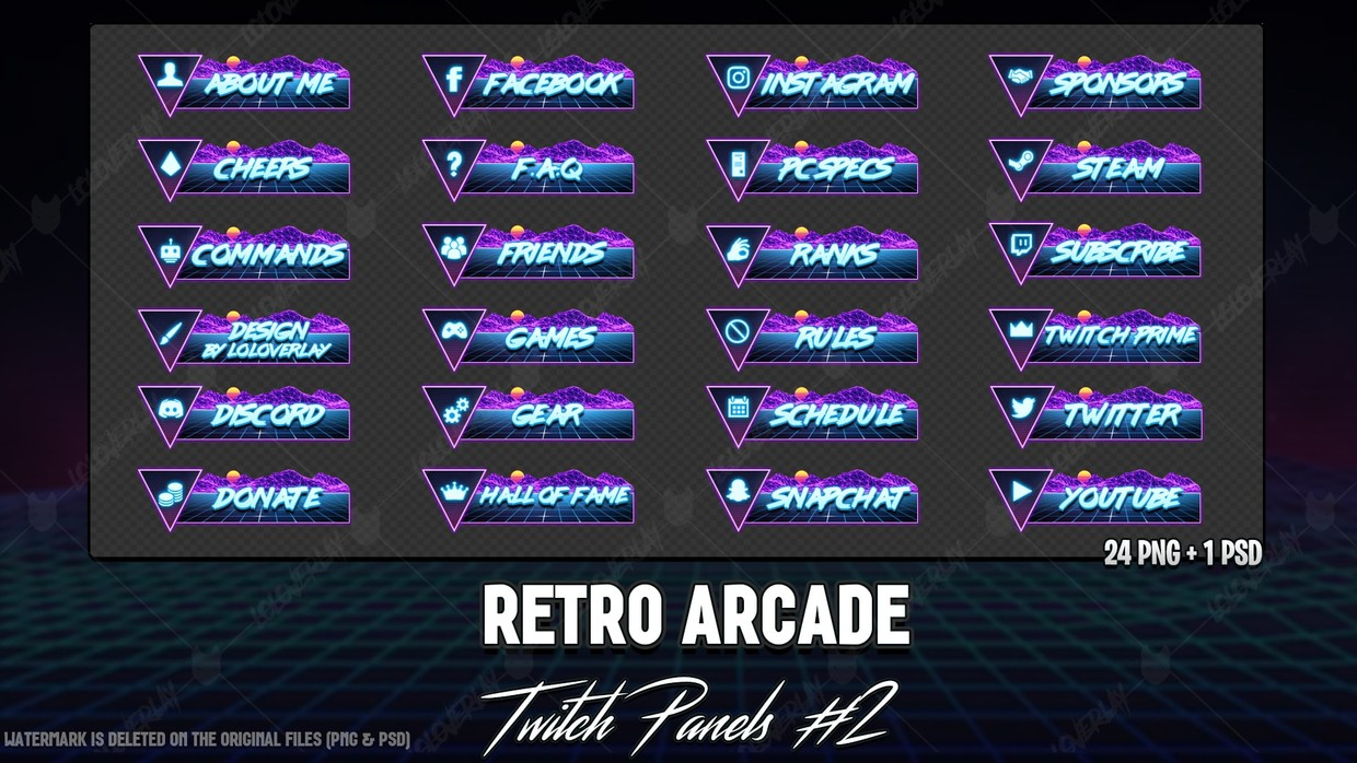 ✅RETRO ARCADE - TWITCH PANELS #2