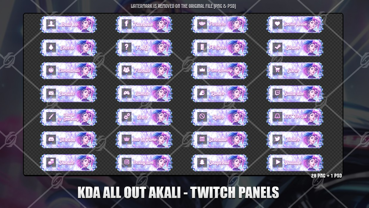 🎙️KDA ALL OUT AKALI - TWITCH PANELS