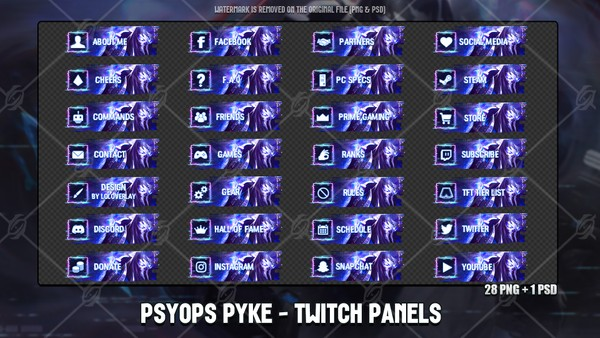✅PSYOPS PYKE - TWITCH PANELS