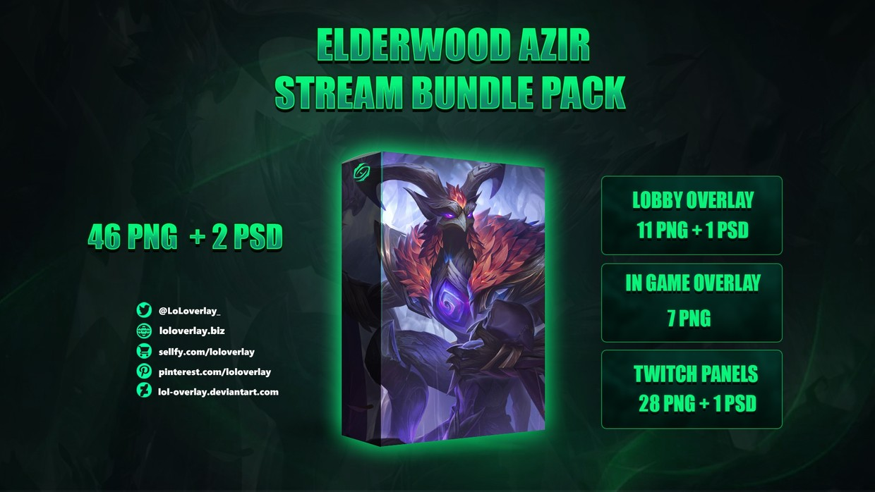 🍁ELDERWOOD AZIR - STREAM BUNDLE [46 PNG + 2 PSD]