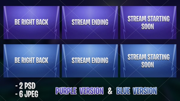 CLASSIC FORTNITE -  INTERMISSION SCREEN [BLUE & PURPLE]
