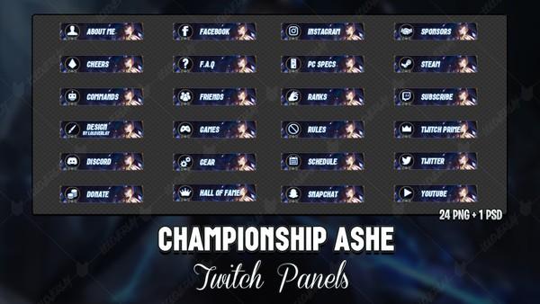 ✅ CHAMPIONSHIP ASHE - TWITCH PANELS