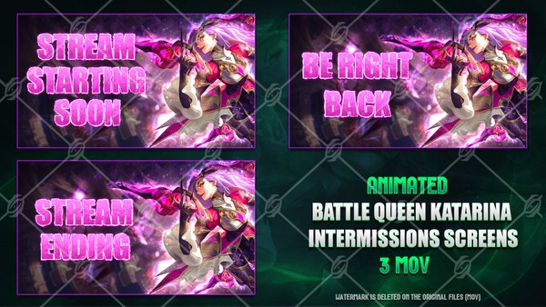 ⚔️🎞️BATTLE QUEEN KATARINA - ANIMATED INTERMISSIONS SCREENS