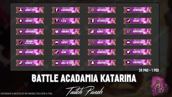 ✅BATTLE ACADAMIA KATARINA - TWITCH PANELS