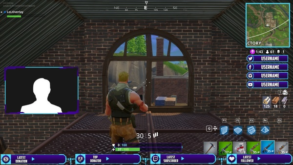 FORTNITE (PURPLE X BLUE) - STREAM OVERLAY #2