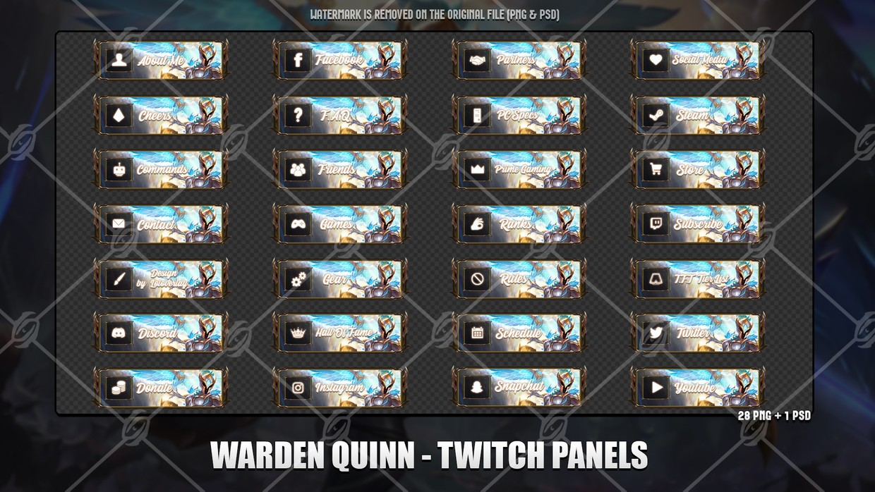 ⚔️WARDEN QUINN - TWITCH PANELS