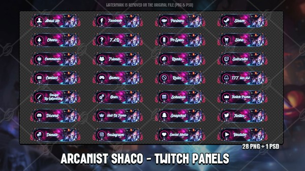 🧙ARCANIST SHACO - TWITCH PANELS