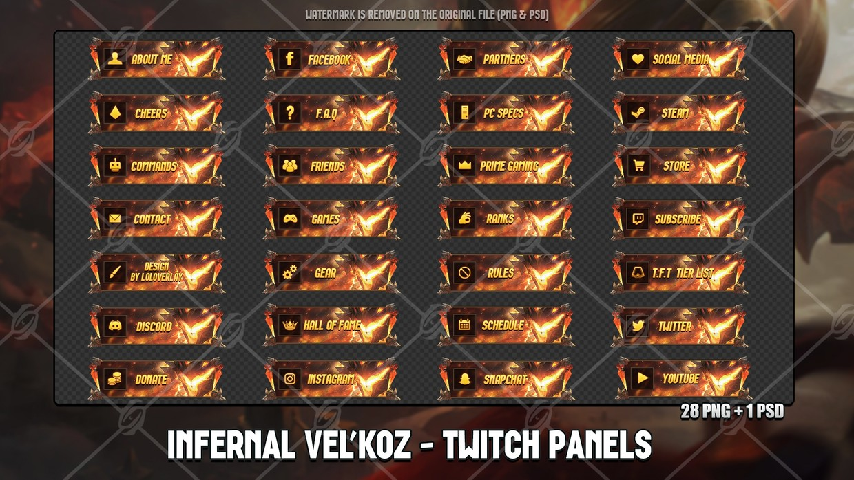 ✅INFERNAL VEL'KOZ - TWITCH PANELS