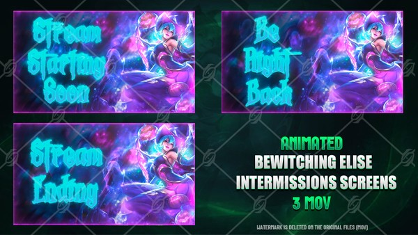 🕷🎞️BEWITCHING ELISE - ANIMATED INTERMISSIONS SCREENS