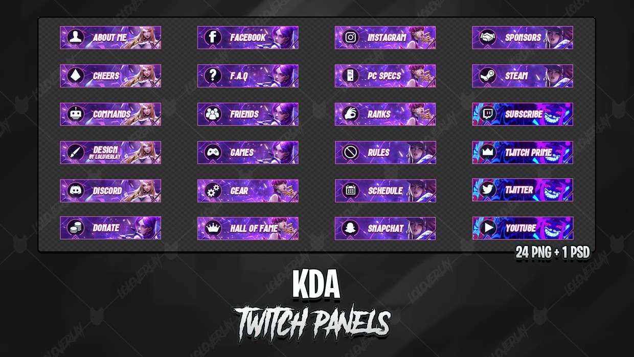 ✅ KDA- TWITCH PANELS