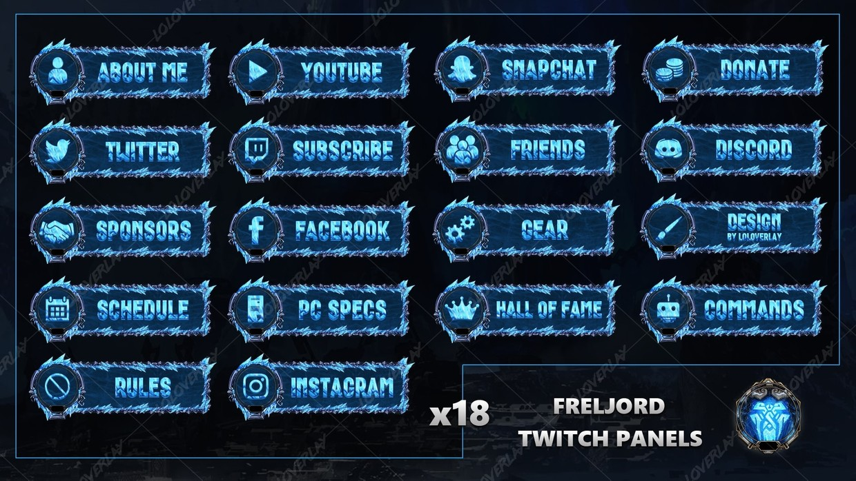 ✅ FRELJORD - TWITCH PANELS
