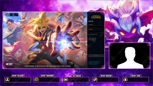 ✅💜 Little Demon Tristana - Lobby Overlay