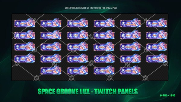 🌠SPACE GROOVE LUX - TWITCH PANELS
