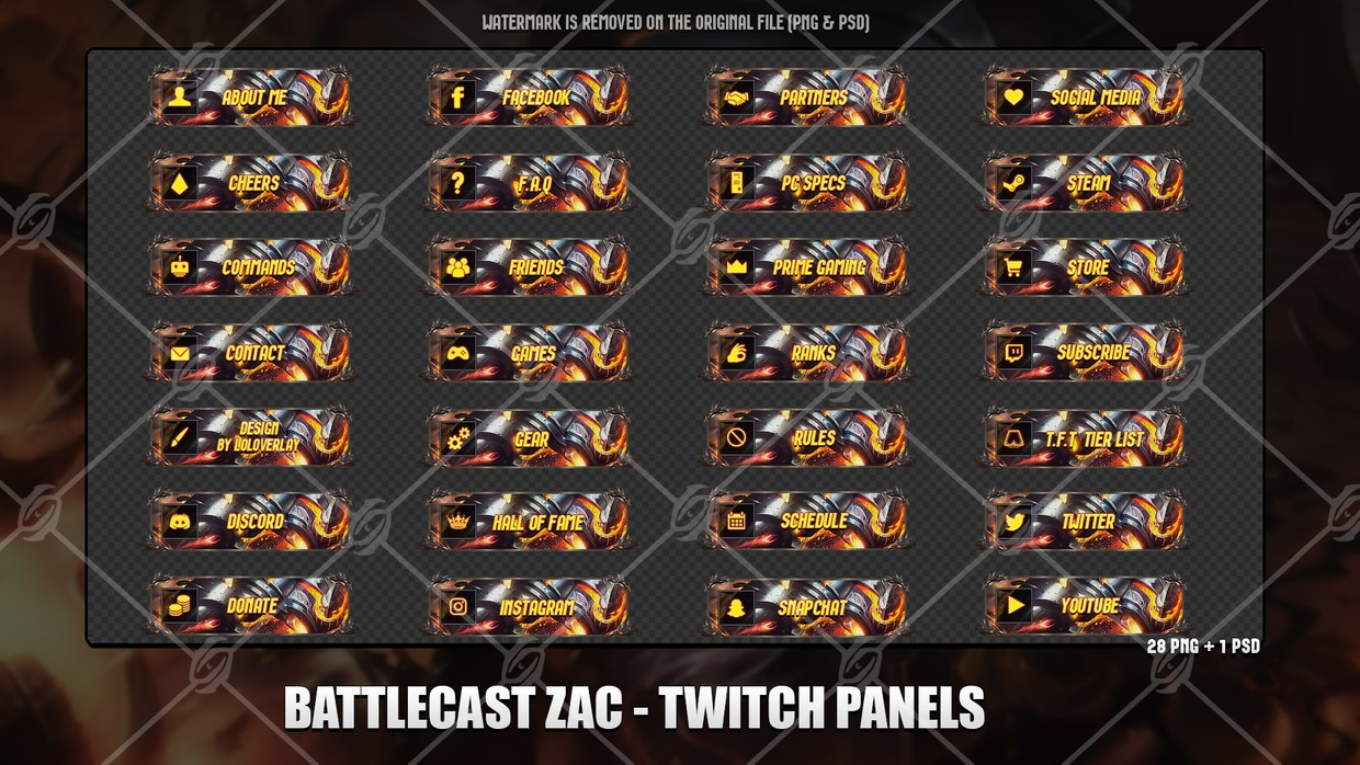 ✅BATTLECAST ZAC - TWITCH PANELS