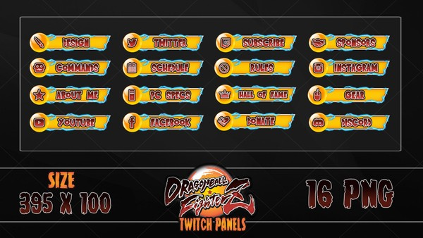 ✅ DRAGONBALL FIGHTERZ- TWITCH PANELS