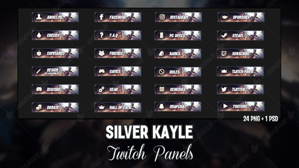 ✅ SILVER KAYLE - TWITCH PANELS
