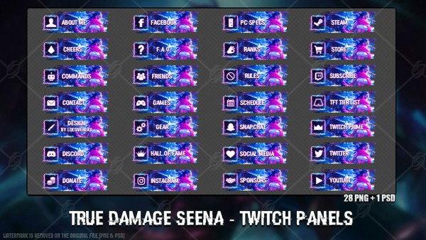 ✅ TRUE DAMAGE SENNA - TWITCH PANELS