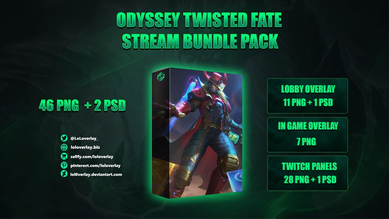 🔥ODYSSEY TWISTED FATE - STREAM BUNDLE [46 PNG + 2 PSD]