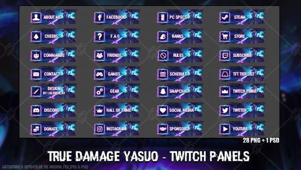 ✅ TRUE DAMAGE YASUO - TWITCH PANELS