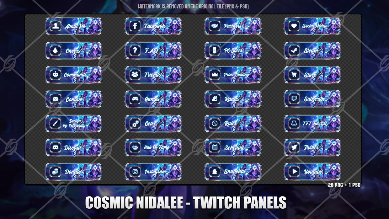 💫COSMIC NIDALEE - TWITCH PANELS