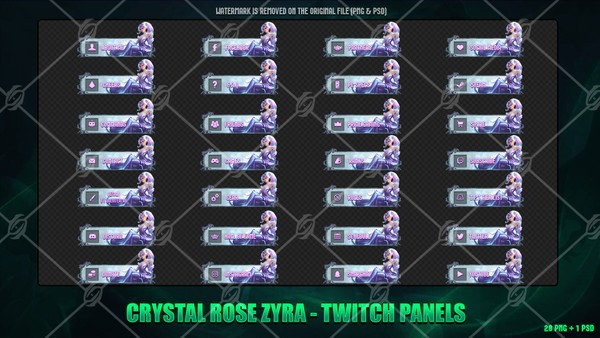 💎🌹CRYSTAL ROSE ZYRA - TWITCH PANELS