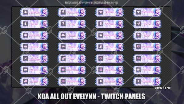 🎙️KDA ALL OUT EVELYNN - TWITCH PANELS