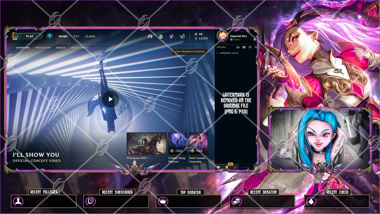 ⚔️BATTLE QUEEN KATARINA - LOBBY OVERLAY