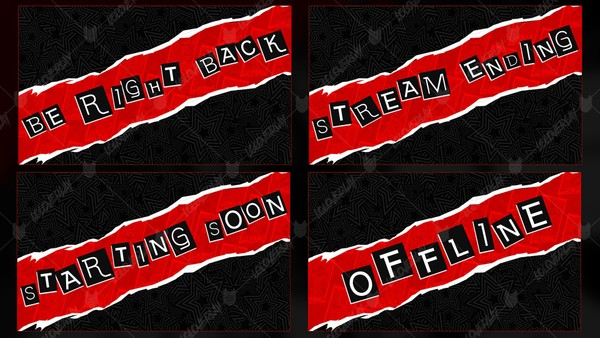 🆕 PERSONA 5 - INTERMISSIONS SCREENS