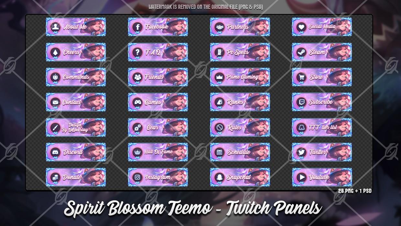 🌸SPIRIT BLOSSOM TEEMO - TWITCH PANELS