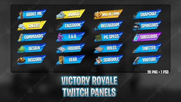 ✅VICTORY ROYALE 2018 - TWITCH PANELS
