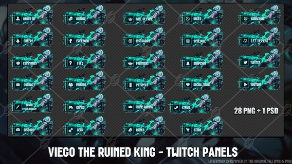 👑VIEGO THE RUINED KING - TWITCH PANELS