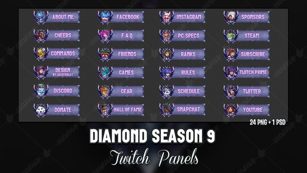 ✅ DIAMOND SEASON 9 - TWITCH PANELS