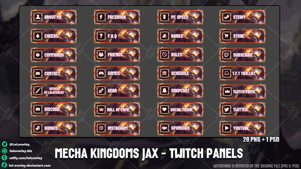 ✅ MECHA KINGDOMS JAX - TWITCH PANELS