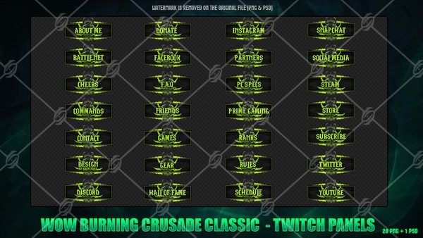 ✅WOW BURNING CRUSADE CLASSIC - TWITCH PANELS