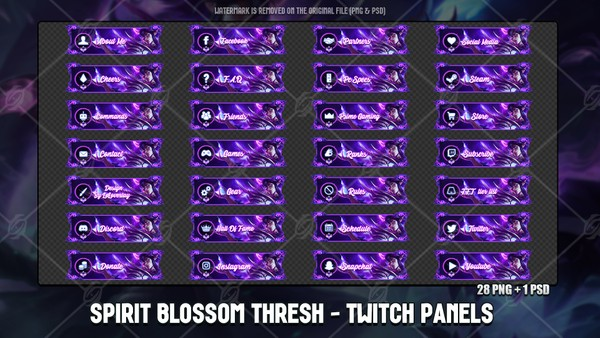 🌸SPIRIT BLOSSOM THRESH - TWITCH PANELS