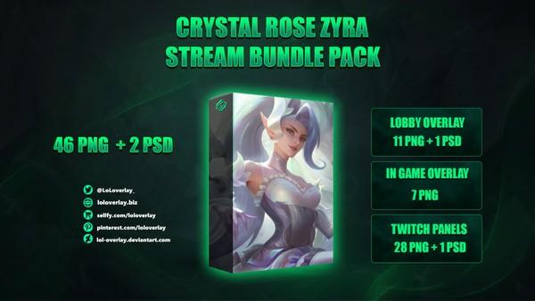 💎🌹CRYSTAL ROSE ZYRA - STREAM BUNDLE [46 PNG + 2 PSD]