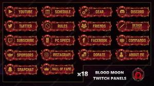BLOOD MOON - TWITCH PANELS