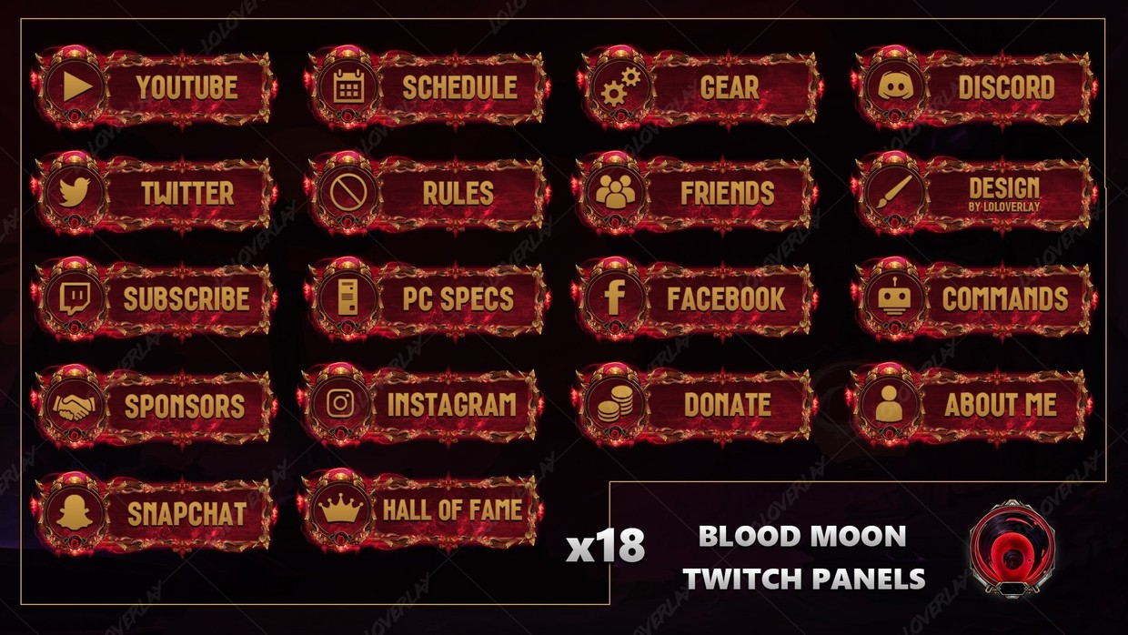 ✅BLOOD MOON - TWITCH PANELS