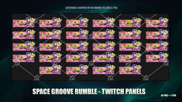 🌠SPACE GROOVE RUMBLE - TWITCH PANELS