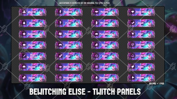 🕷BEWITCHING ELISE - TWITCH PANELS