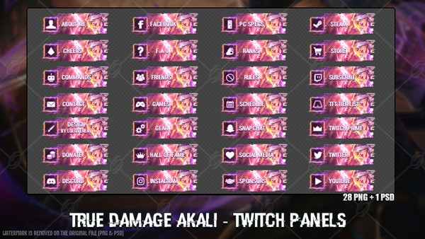 ✅TRUE DAMAGE AKALI - TWITCH PANELS