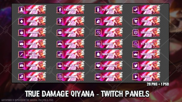 ✅TRUE DAMAGE QIYANA - TWITCH PANELS
