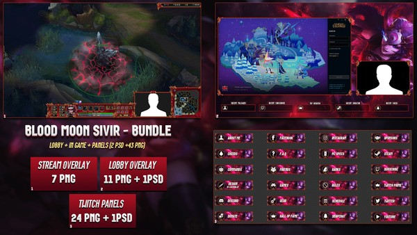 ✅🔥 BLOOD MOON SIVIR - BUNDLE [43 PNG + 2 PSD]