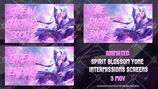 🌸🎞️SPIRIT BLOSSOM YONE - ANIMATED INTERMISSIONS SCREENS