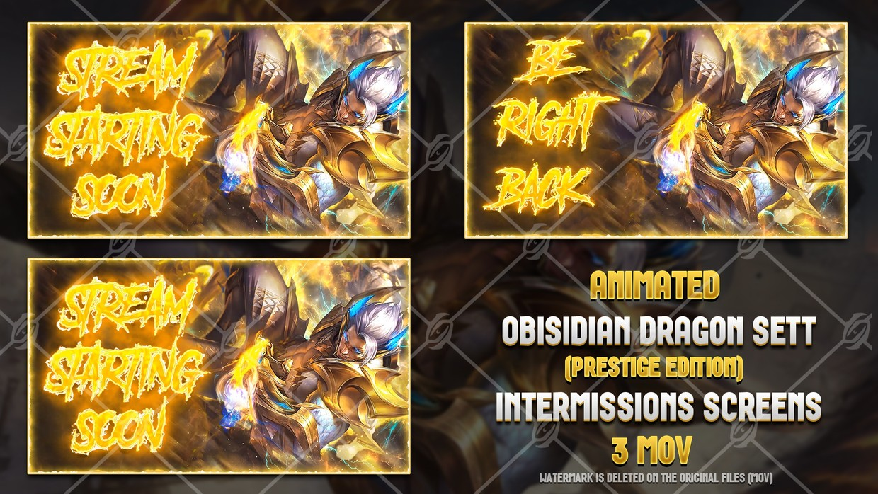 🐉🎞️ OBSIDIAN DRAGON SETT PRESTIGE EDITION - ANIMATED INTERMISSIONS SCREENS