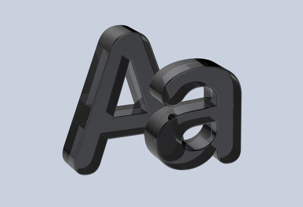 Black Acrylic Letters and Numbers